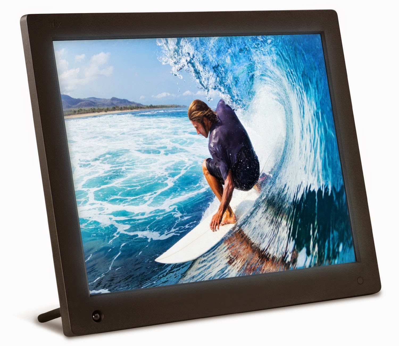 nix 12 inch hi res digital photo frame with motion sensor 4gb memory x12c by nix