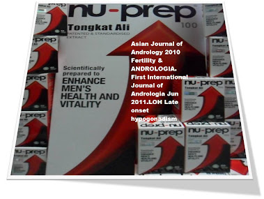 Clinical studies AJA 2010Fertility,LOH Late on-set hypogonadism ANDROLOGIA June2011 NuPrep100