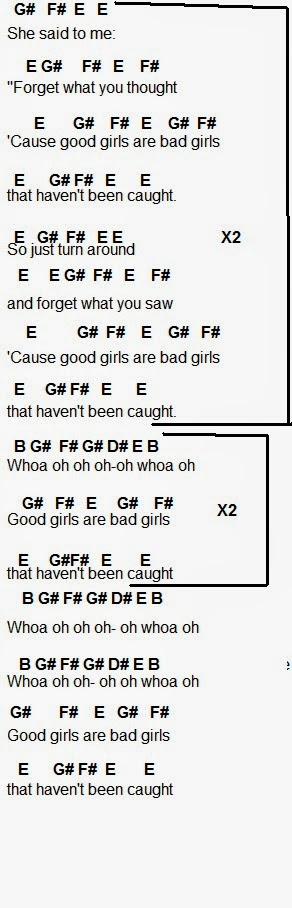 Flute Sheet Music Good Girls