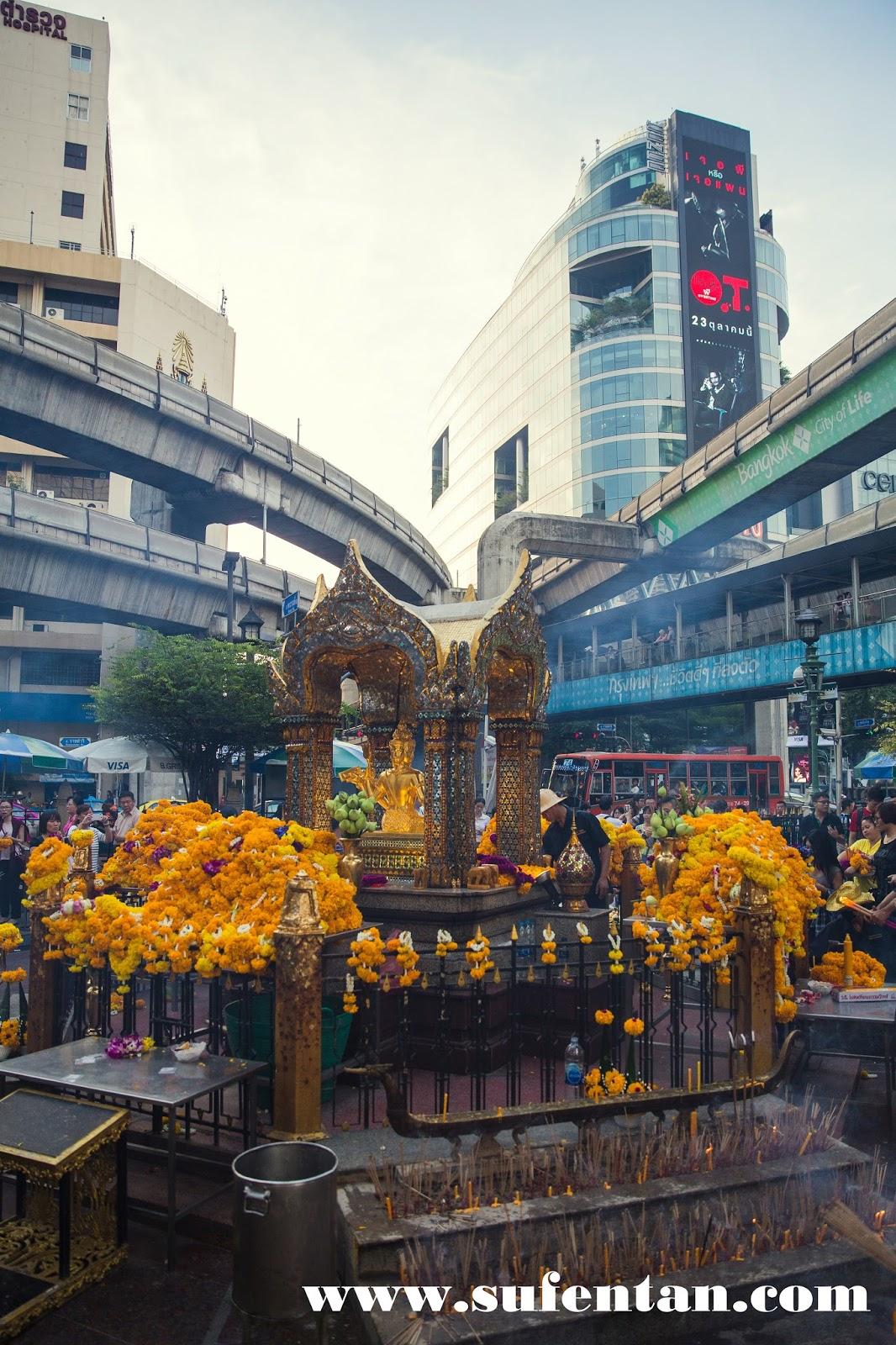 Four-Faced Buddha of Erawan Shrine  Bangkok  SUFENTAN.COM