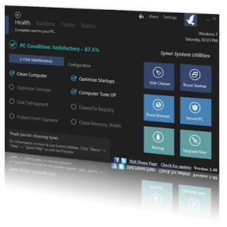 برنامج مجانى لصيانة النظام وتحسين اداء وتسريع جهاز الكمبيوتر بوجه عام Synei System Utilities 1.47