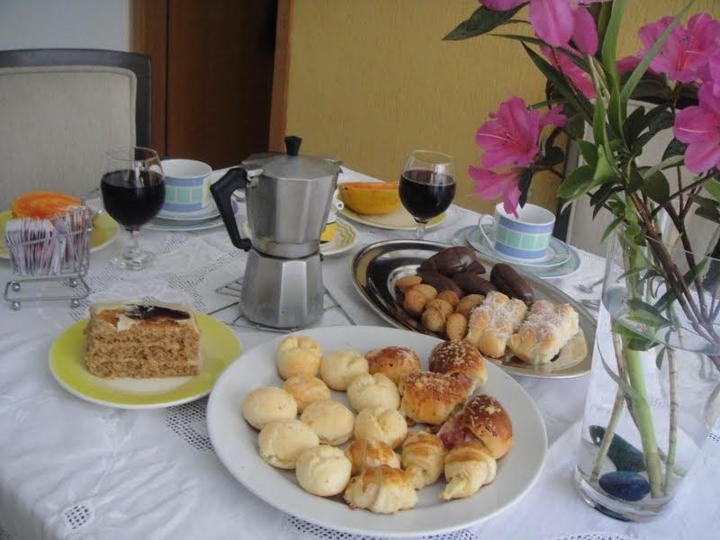 Charme de cozinha caf da manh do dia dos pais for Modelos de mesas para cafeteria
