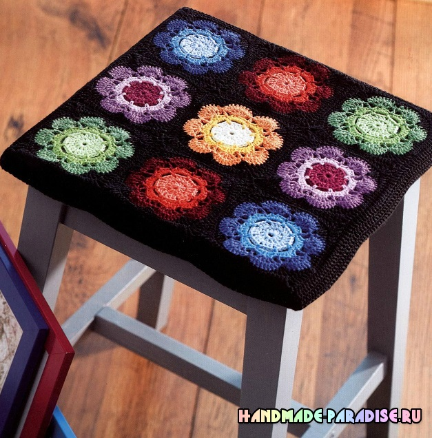 Схемы вязания бабушкиными квадратами крючком