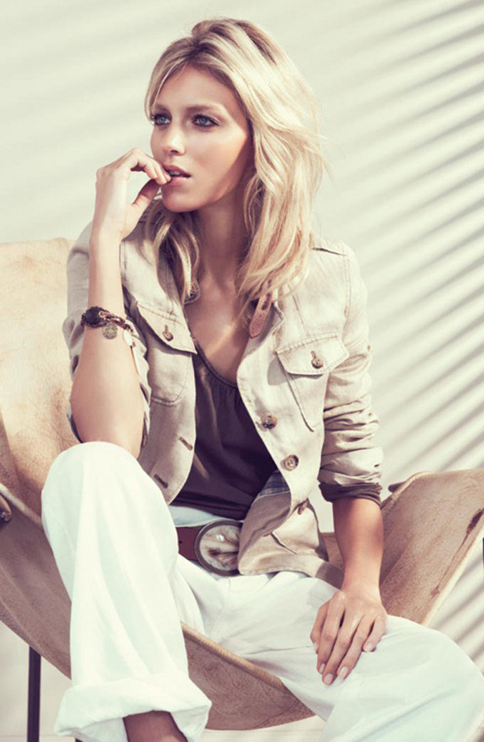 via fashioned by love | Anja Rubik in Massimo Dutti Spring/Summer 2011 campaign (photography: Paola Kudacki)