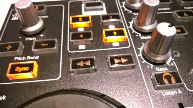 dj control mp3 e2 con ganancia en cada canal