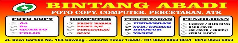 Bintang Abadi Group » Jasa Fotocopy - Percetakan - Print Warna - Scan Dokumen Murah di Jakarta