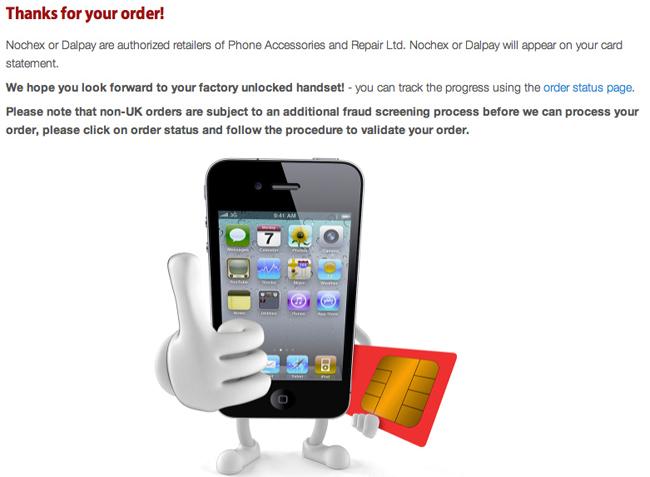 Order iPhone 4 Unlock