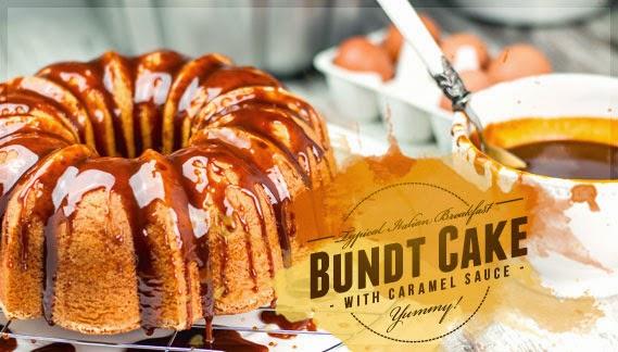 ciambellone al caramello • bundt cake with caramel sauce