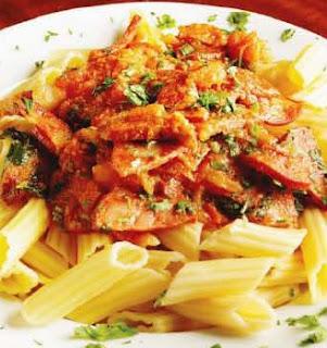 Receta Pasta de Pollo con Vegetales