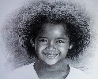 Little Black Girl Drawing