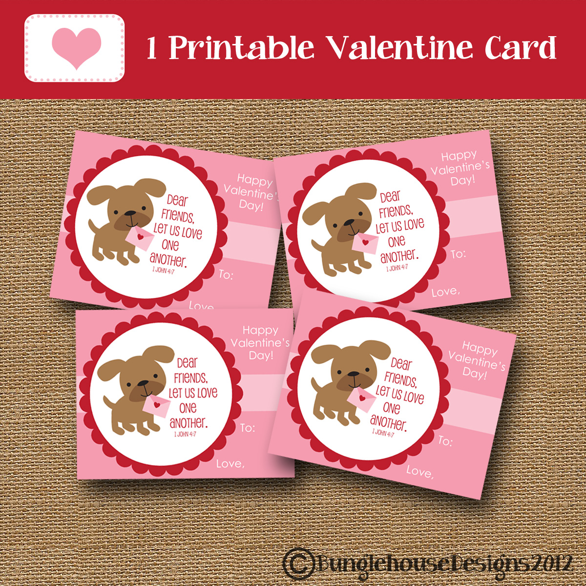 Valentine Cards And Treat Bag