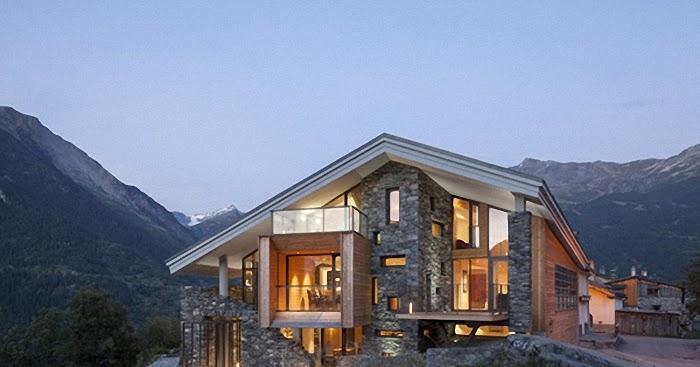 Dise o de interiores arquitectura casa en la monta a for Casa en la montana