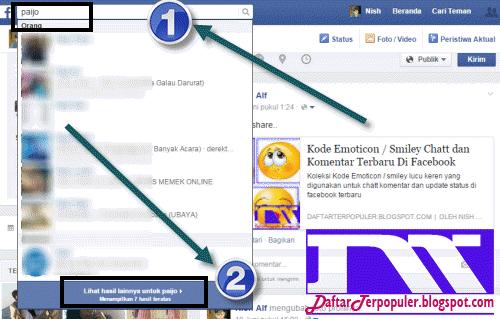 cara mencari orang di facebook
