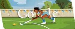 Londres 2012 hockey sobre césped doodle de Google, 1 de agosto