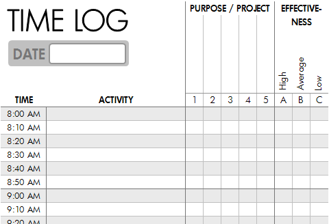 Hour Log Template. log templates download free day to day log ...