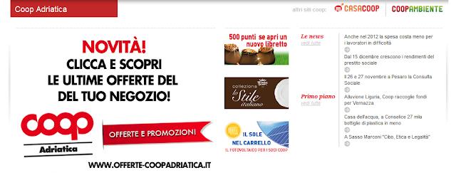 Raccolta punti Coop Adriatica
