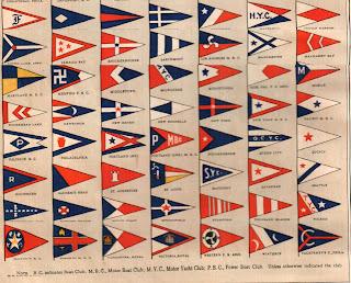 Estate Sale Treasure Hunter 1914 Yacht Club Flags United