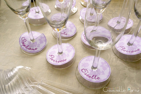 marques-noms sweet table papillon / glasses names butterfly sweet table