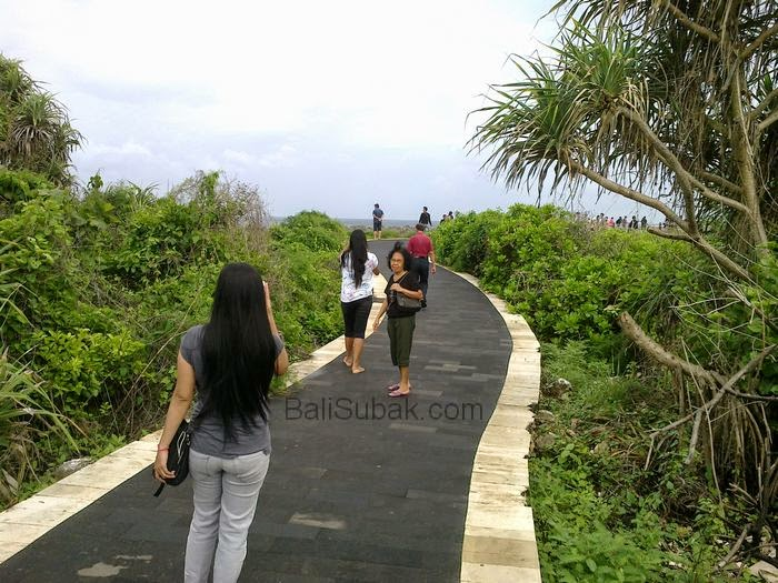 Visited tourist attraction Water Blow at Nusa Dua Beach, Bali Indonesia