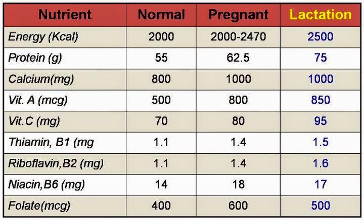 Ibu menyusu perlu nutrisi yang mencukupi untuk menampung keperluan bayi /susu ibu