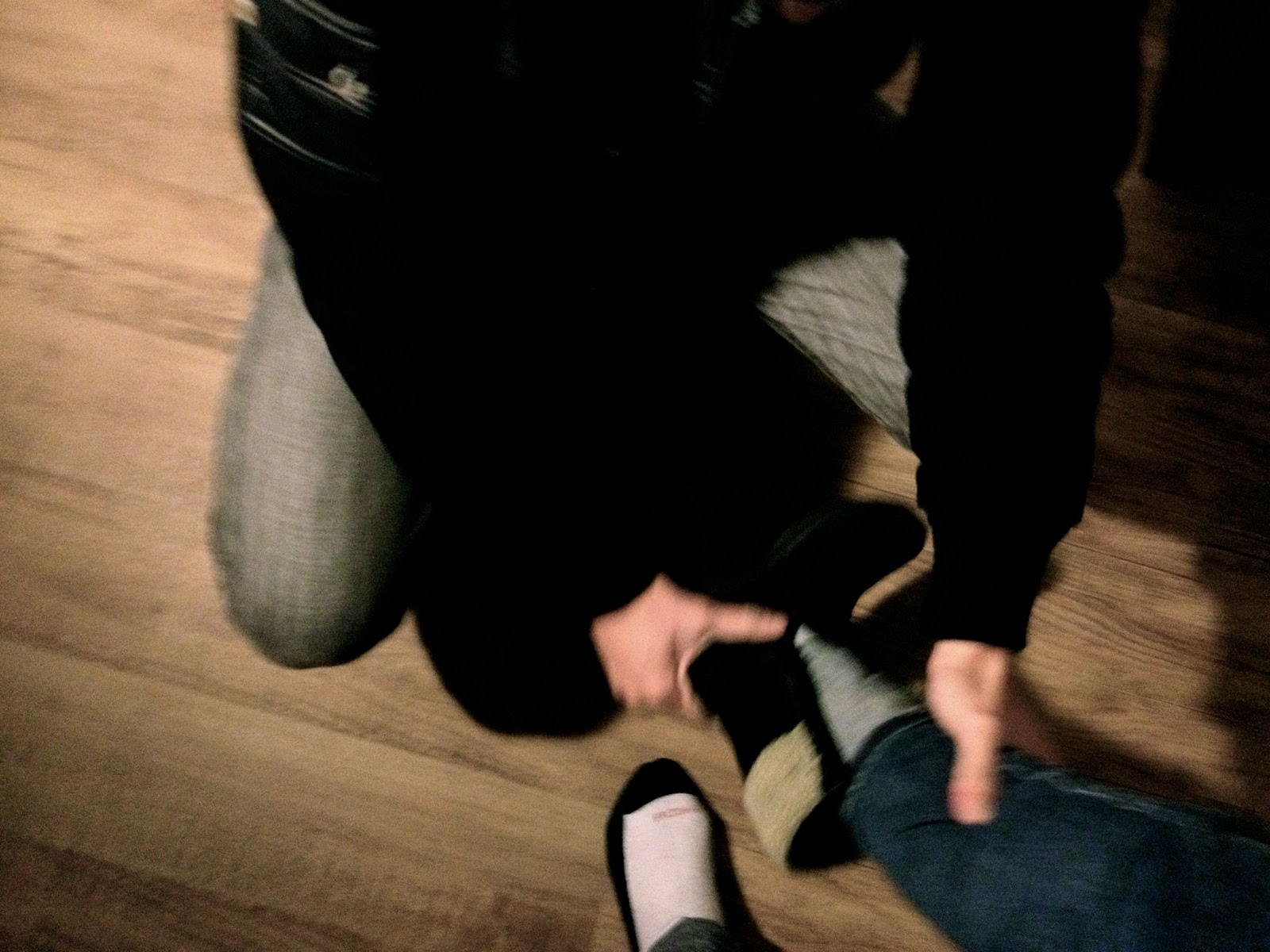 ryannabella: just a husband taking off his wife's shoes.