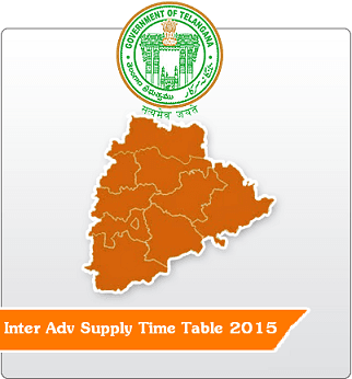 Telangana State TS Inter Adv Supply Exams 2015 Time Table