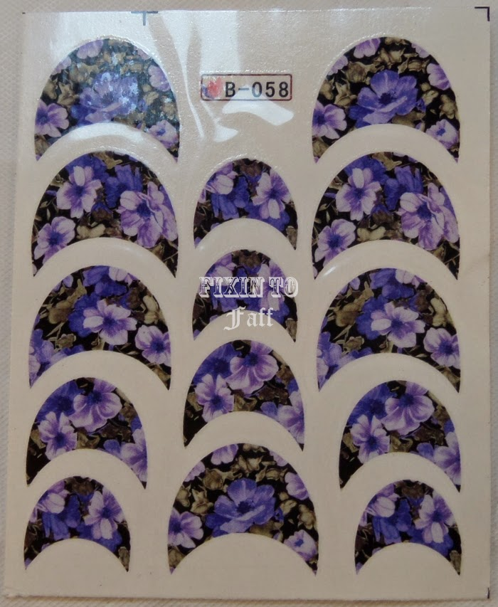 Floral French Tip water decals B058 from bornprettystore.