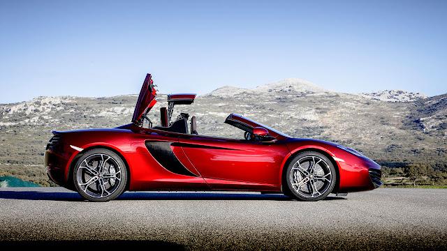 McLaren 12c Spider open