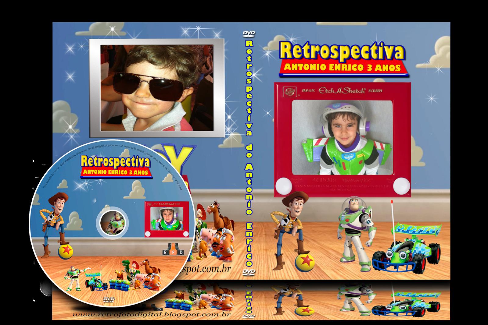 Capa de DVD - Tema  Toy Story