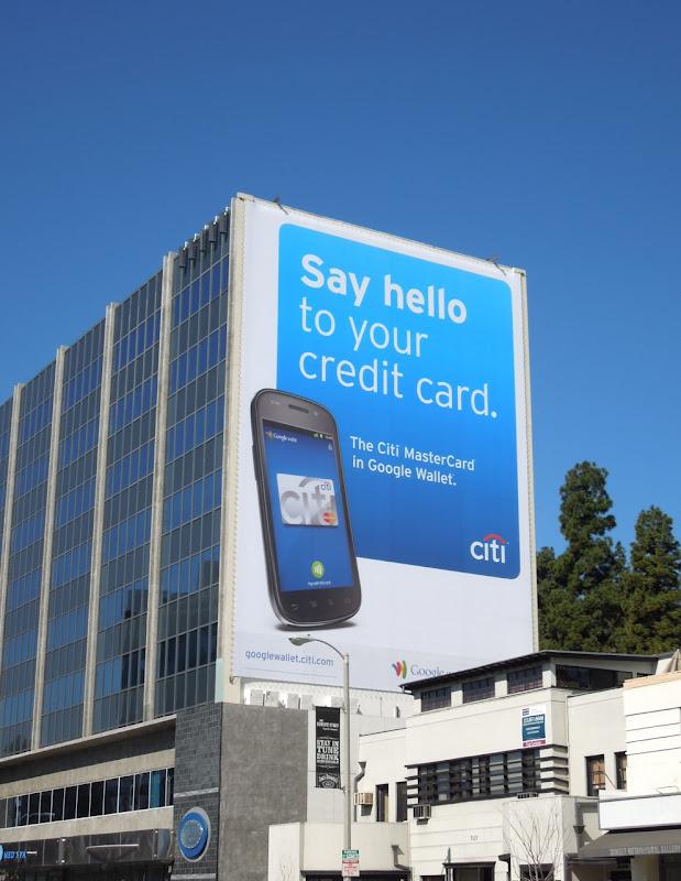 Citi Mastercard Google Wallet billboard