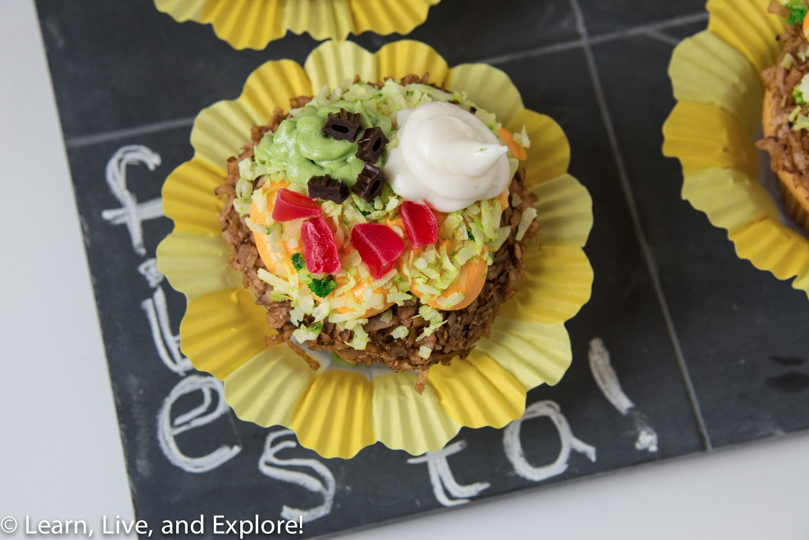 May Cupcake of the Month - Taco Salads ~ Learn, Live, and ...