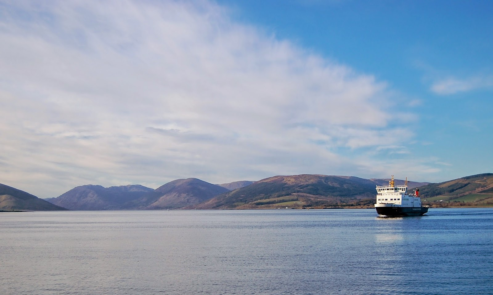 Ferry boat in the Firth of Clyde