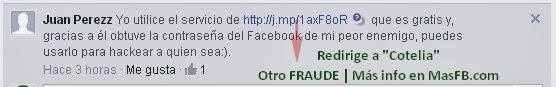 SPAM Cotelia Facebook 2013