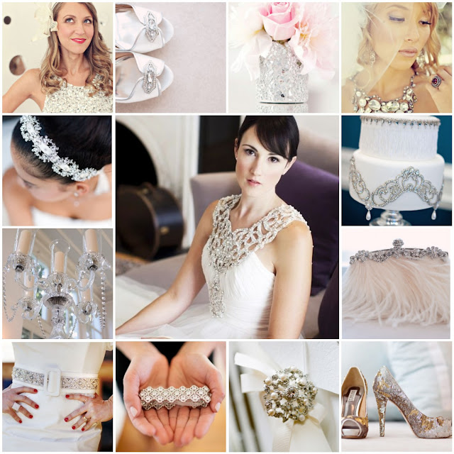 sparkly glamour wedding