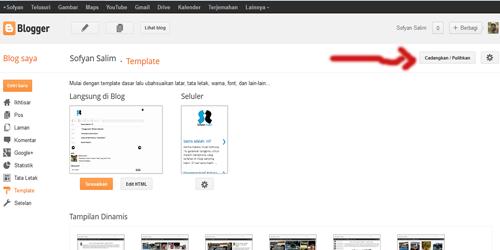 Tutorial mengganti template blogger 5