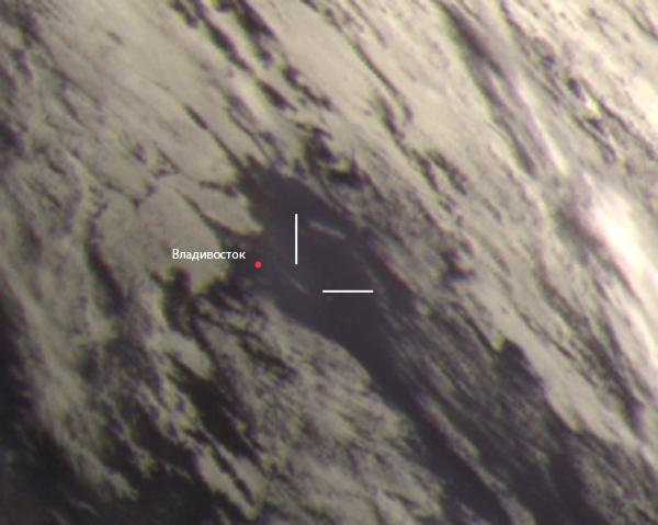 Vladivostok fireball captured by Electro-L weather satellite. Credit: orbiter-forum.com