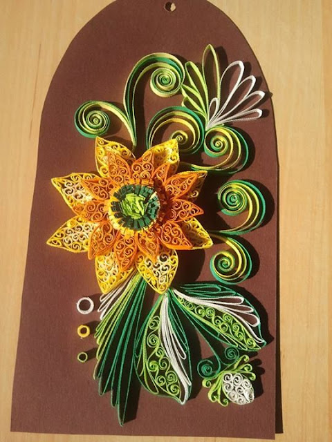 beautiful quilled picture by Aurelia Eugenia