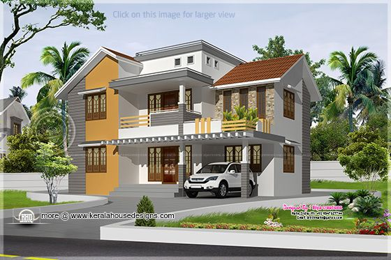 June 2013 kerala home design and floor plans for Indian house outlook design