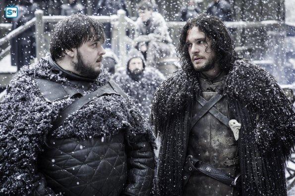 Game of Thrones 5x09 - Jon Nieve y Sam Tarly