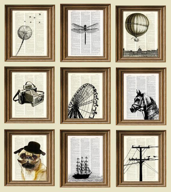 Los mil libros 8 ideas para decorar usando los libros - Marcos para laminas grandes ...