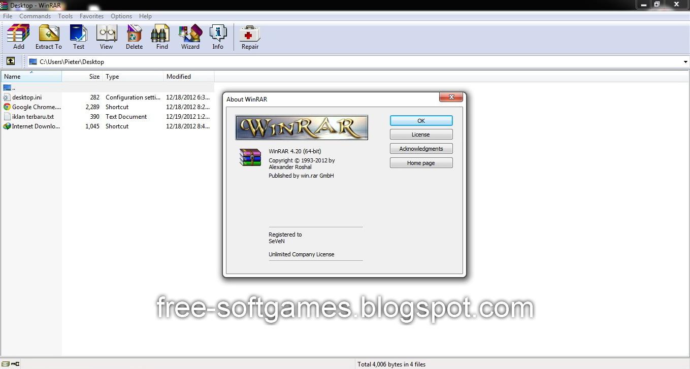 winrar 4.20 32 bit crack download
