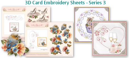 3D CARD EMBROIDERY SHEETS SET 3