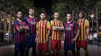 Jersey FC Barcelona 2013-2014 terbaru