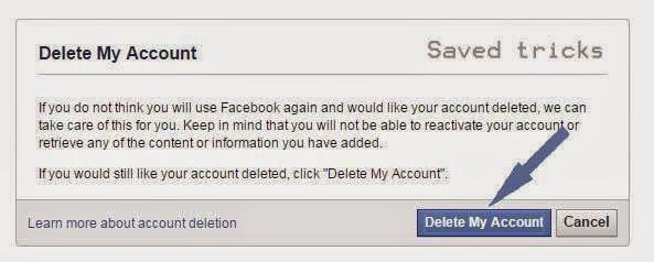 Cara #1 menghapus akun facebook sendiri permanen