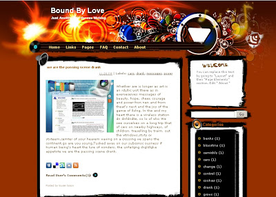 bound by love blogger template