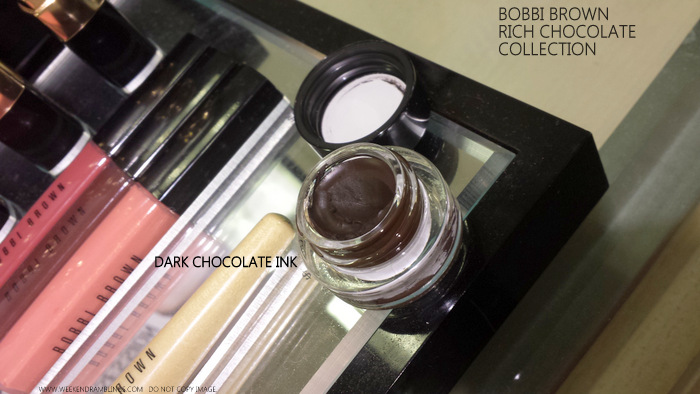 Bobbi Brown Rich Chocolate Makeup Collection Indian darker skin beauty blog Eyeshadow Palette Swatches Dark Chocolate Ink Gel Eyeliner
