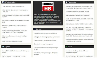 Nueva sección NOTICIAS | Mundo Handball