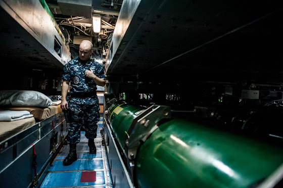 Berthings aboard Virginia-class attack submarine