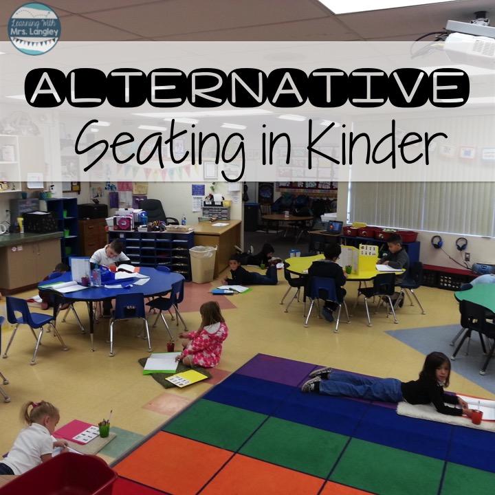 Unconventional Classroom Design ~ Kinder tribe alternative seating in kindergarten