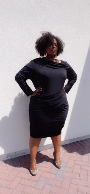 little black dress, monif c, lbd, LBD, plus size fashion, plus size, full figured, full figured fashion, nicole dress